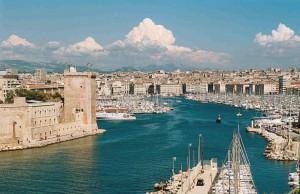 Портовый город Марсель во Франции
