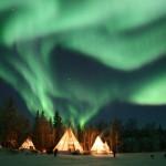 Сияние Авроры в Финляндии