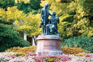 Памятник Штраусу в Бадене