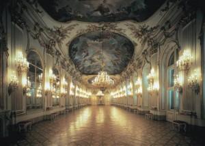 гостиная замка Шенбрунн в стиле рококо